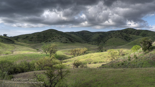 Between storms at Ahmanson Ranch