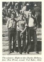 Winners of the 1938 Fifth Annual Big Pines Trail Marathon. Photo: Los Angeles County Department of Parks and Recreation.