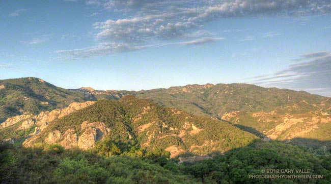Bulldog 50K/25K course in Malibu Creek State Park