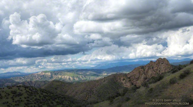 Cumulus clouds from the Chumash Trail