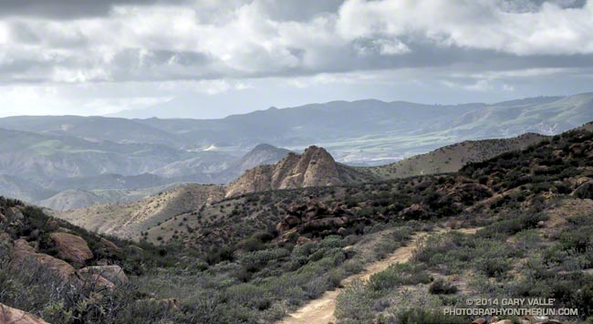 View northwest from Rocky Peak Road near its junction with the Chumash Trail