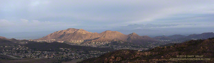 Conejo Mountain with the Topatopa Mountains in the distance.