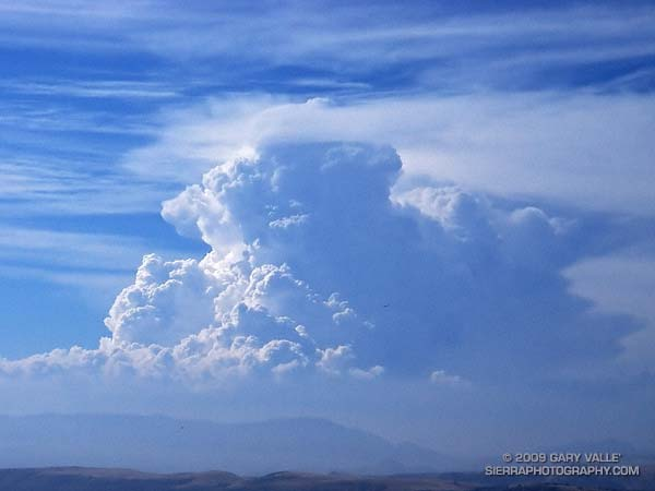 Developing cumulonimbus near Mt. Abel