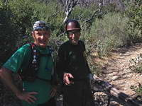 Gary Valle and Gary Hilliard on the lower Kenyon Devore Trail.