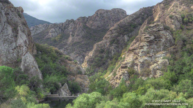 Goat Buttes and Century Lake and Gorge in Malibu Creek State Park.