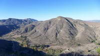 Hill Canyon and Elliot Mountain from the Canyon Overlook Trail.