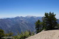 Pine Mountain, Dawson Peak and Mt. Baldy from the summit of Mt. Baden-Powell.
