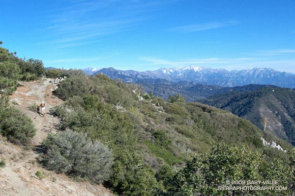 Mt. Baldy from near the summit of Strawberry Peak, in the San Gabriel Mountains.