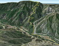 Google Earth image of Mt. Lukens and the Stone Canyon Trail