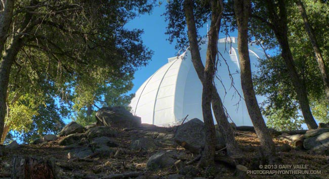Morning sun on the dome of the Mt. Wilson Observatory