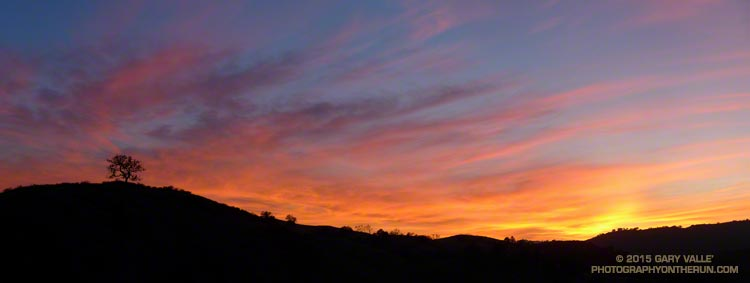 Sunset in open space area near Los Angeles