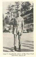 Paul V. Engelhardt, winner of the Big Pines Trail Marathon in 1934, 1935 and 1936. Photo: Los Angeles County Department of Parks and Recreation