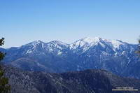 Pine Mountain, Dawson Peak and Mt. Baldy from near Mt. Hawkins.