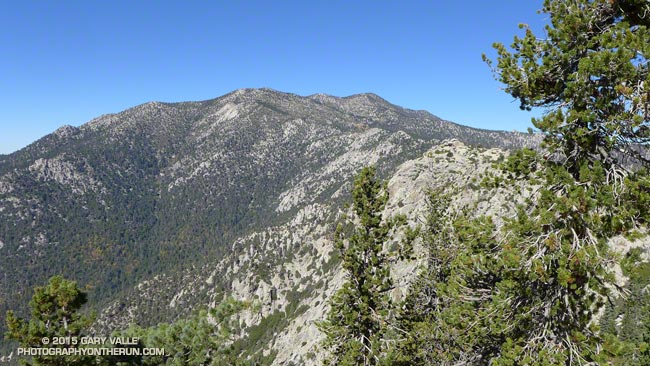 San Jacinto area peaks from near Tahquitz Peak