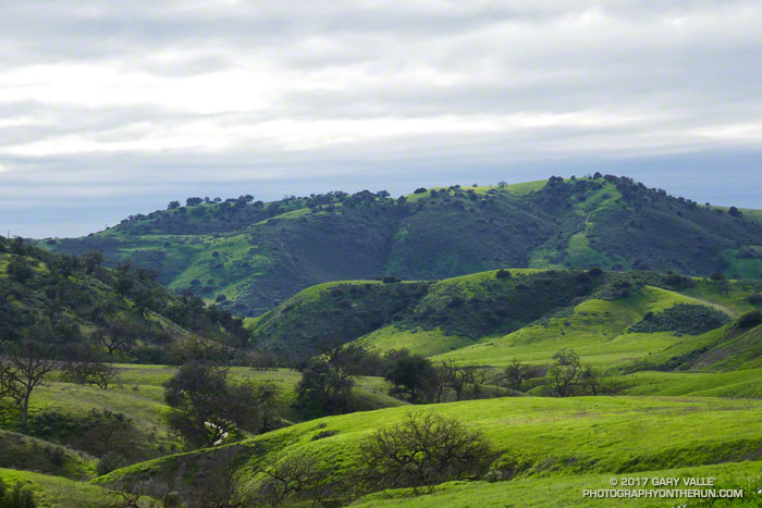 View west, down East Las Virgenes Canyon, toward Las Virgenes Canyon
