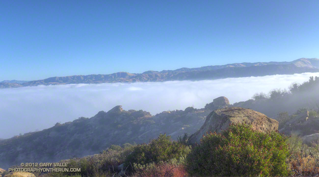Marine layer in Simi Valley from Sage Ranch Park