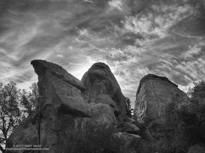 Stoney Point: Crags & Clouds. Photography by Gary Valle