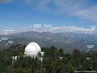 Annotated Mt. Wilson Towercam Image