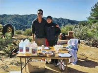 Billy and Lori working the West Horsethief aid station.