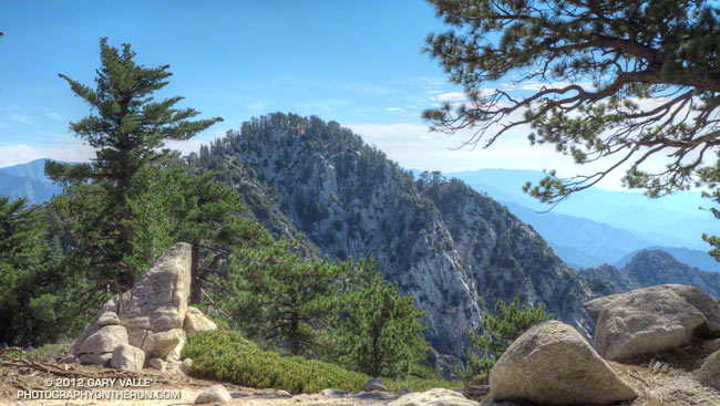 Eastern summit of Twin Peaks in the San Gabriel Mountains, near Los Angeles