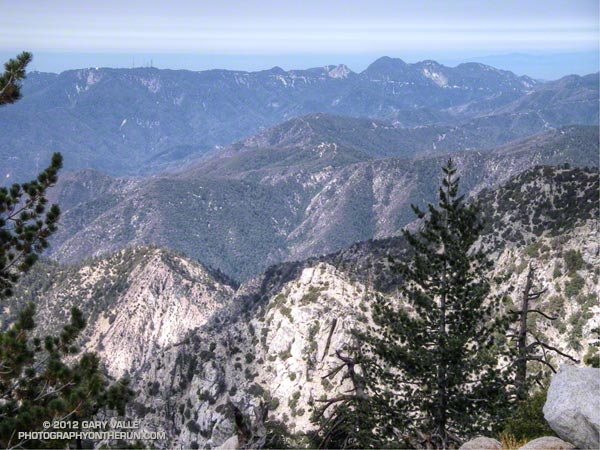 View from Twin Peaks to Mt. Wilson