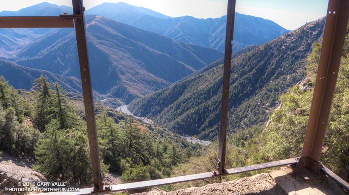 View from Big Horn Mine of Mine Gulch and the headwaters of the East Fork San Gabriel River.