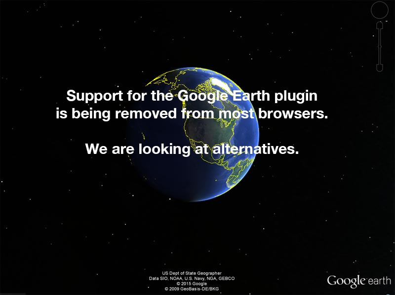 Google Earth Plugin is no longer available