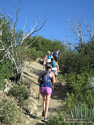 Working up the San Gabriel Peak Trail on the first uphill of the ANFTR course.