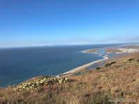 Pt. Mugu from Mugu Peak with Anacapa and Santa Cruz Islands in the distance.